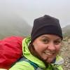 Trail selfie - snow and rain!