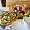 Quiche was always a less expensive menu option.<br /> Champex Lac, Switzerland