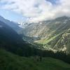 Hiking above Zinal