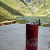 Most expensive, but scenic Coke on the patio of Cabane de Louvie