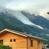 Glacier over Chamonix, France