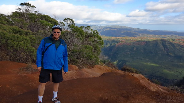 Waimea Canyon, downhill bike ride