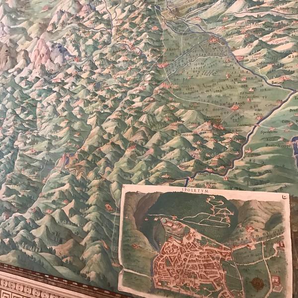 Map of Umbria, Vatican