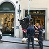 Transporting a sculpture, Florence