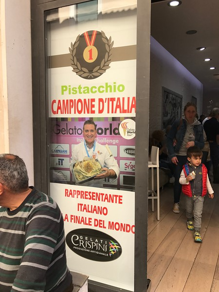 The gelato champion, Foligno