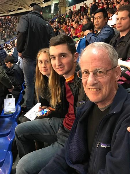 Roma match, Olympic Stadium