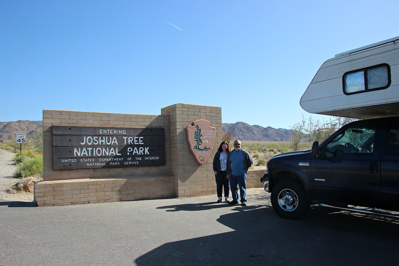 Entering Joshua Tree National Park