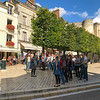 Choral group, main square Amboise