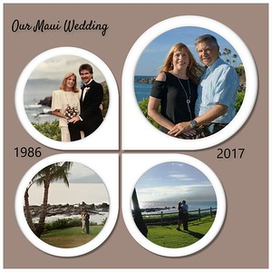 We recreated a couple of our wedding photos taken at the same site where we were 30 years ago