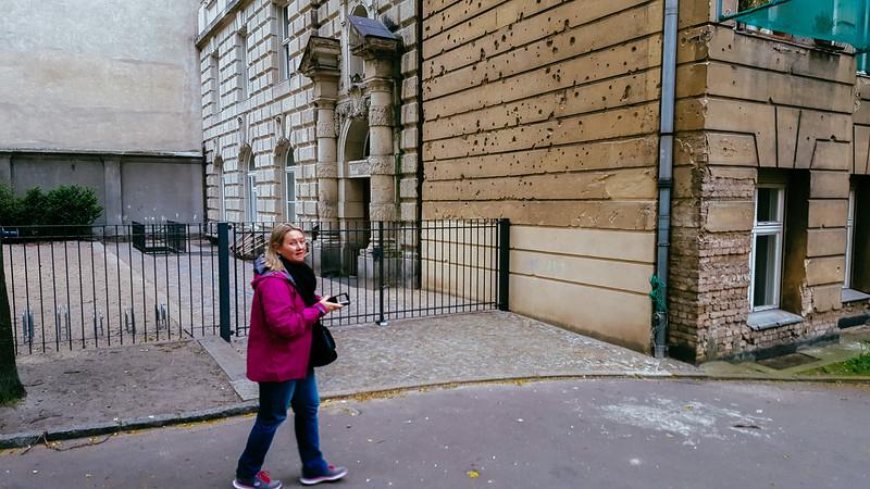 Berlin. Bullet holes still to be fixed.