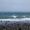 Ocean in strong winds at Cape Egmont