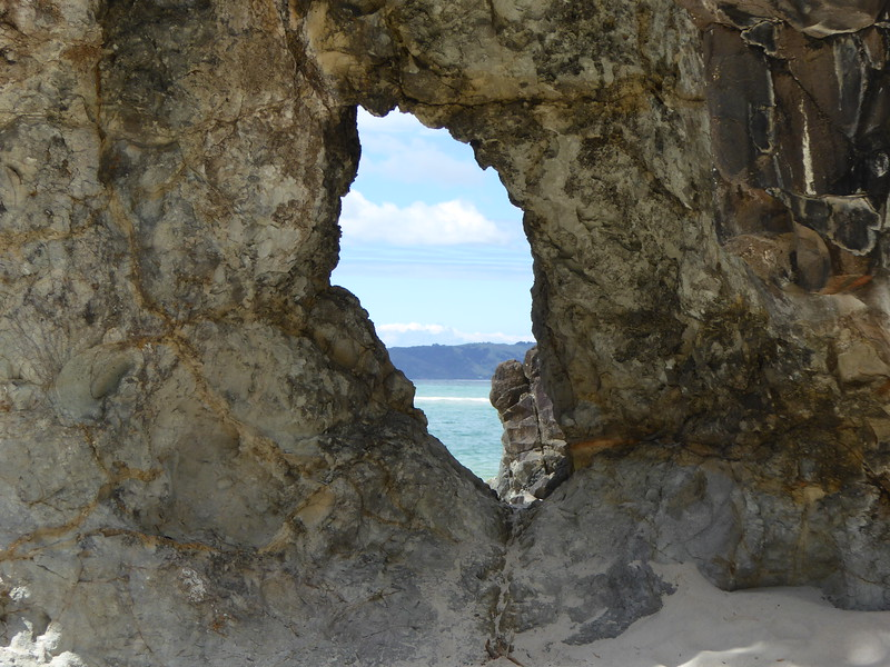 Hole in rock at Opera Point