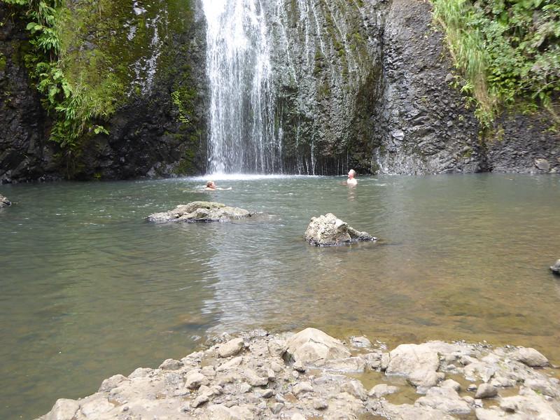 Swimming at Kitekite Falls
