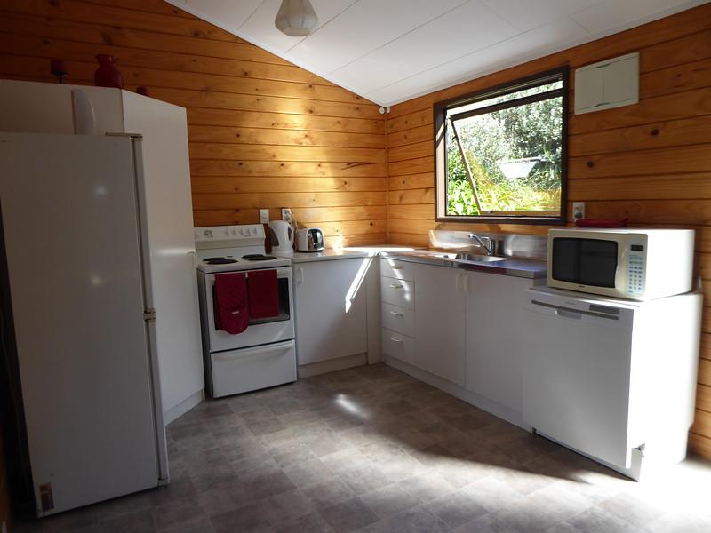 Kitchen at Whitehall Cottage, Karapiro
