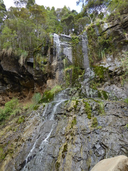 The lesser fall at Makaroa Falls