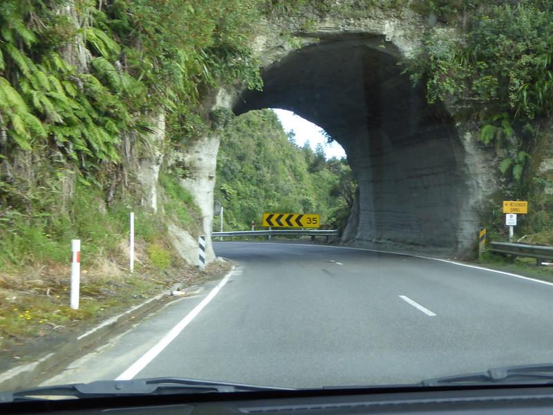 Approaching Mt Messenger Tunnel