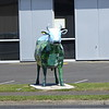 One of many ceramic cows at Morrinsville