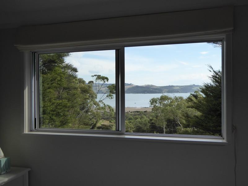 View from bedroom window, Studio 531 cottage, Coromandel