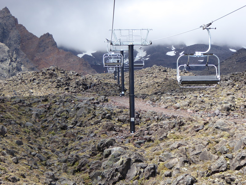 Chairlifts at top of Bruce Rd