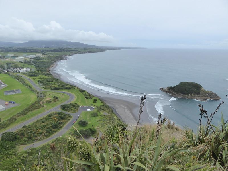 View from top of Paritutu Rock