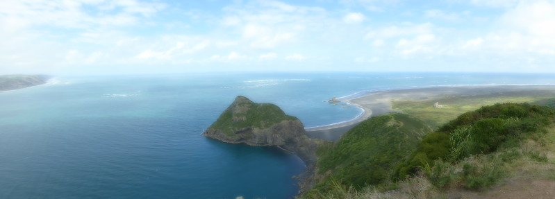 View from Lemming's Lookout, Whatipu Beach