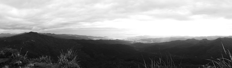 View from top of Castle Rock (B&W)