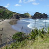 View of Piha Beach looking towards The Gap