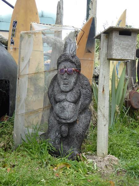 Garden art near Gairloch shipwreck