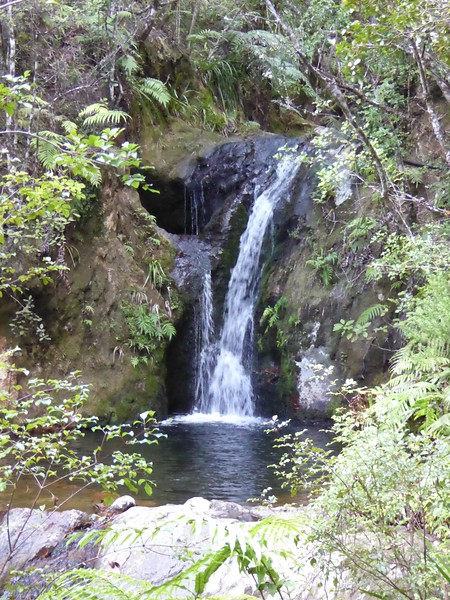 Small waterfall seen at Broken Hills Reserve
