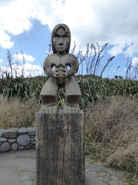 Maori maiden seen on Mercer Bay Loop