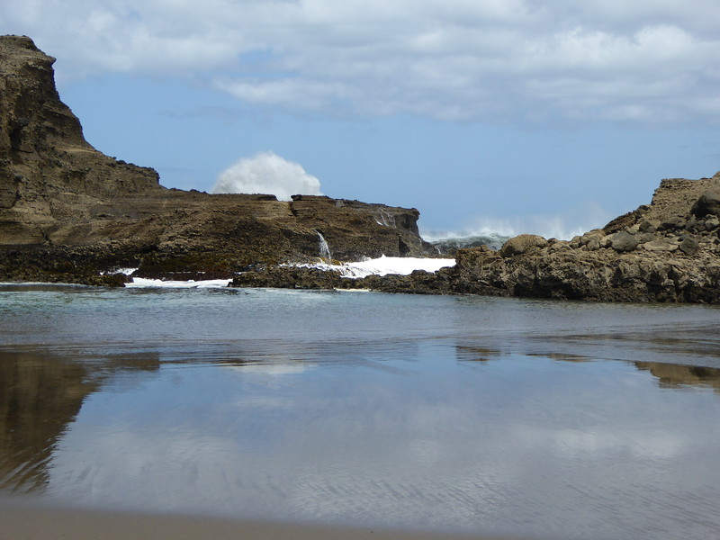 Waves crashing at The Gap