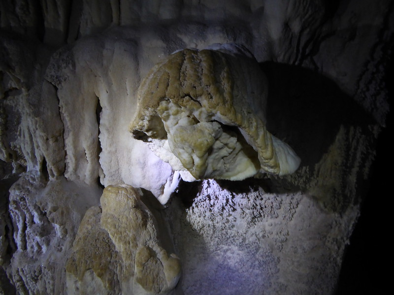 Inside the cave at Glowing Adventures