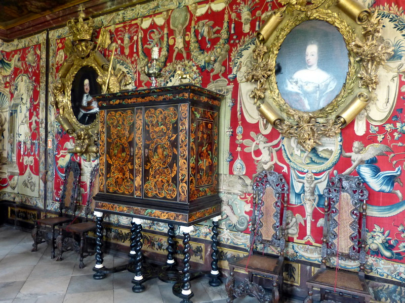 Interior of Rosenborg Castle.