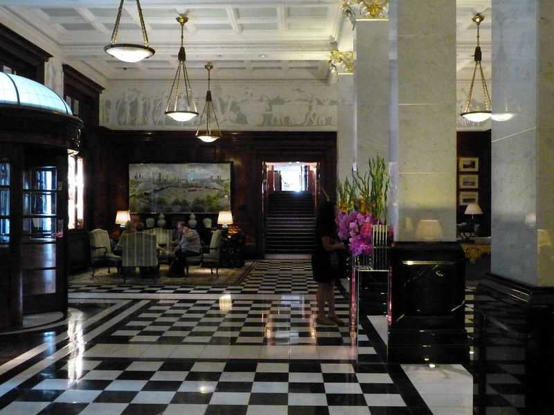 Part of the reception area at The Savoy.