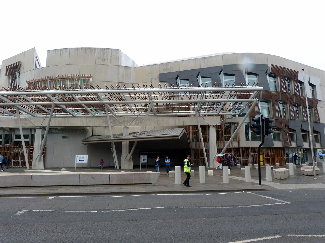 Exterior of the Scottish Parliament Building, Edinburgh.