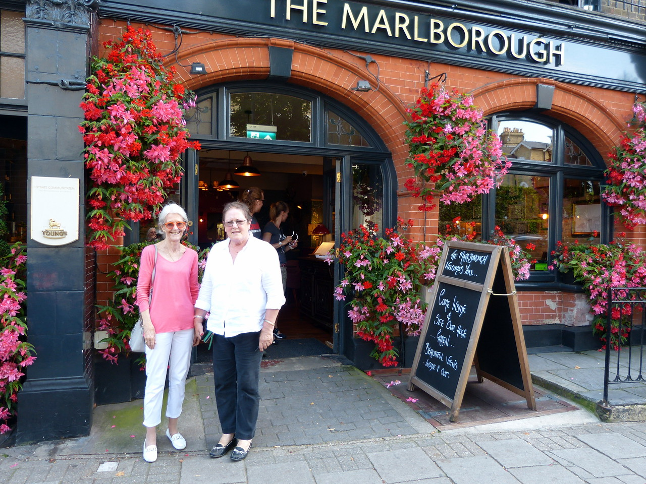 Lunch at the Marlborough Pub, Richmond .