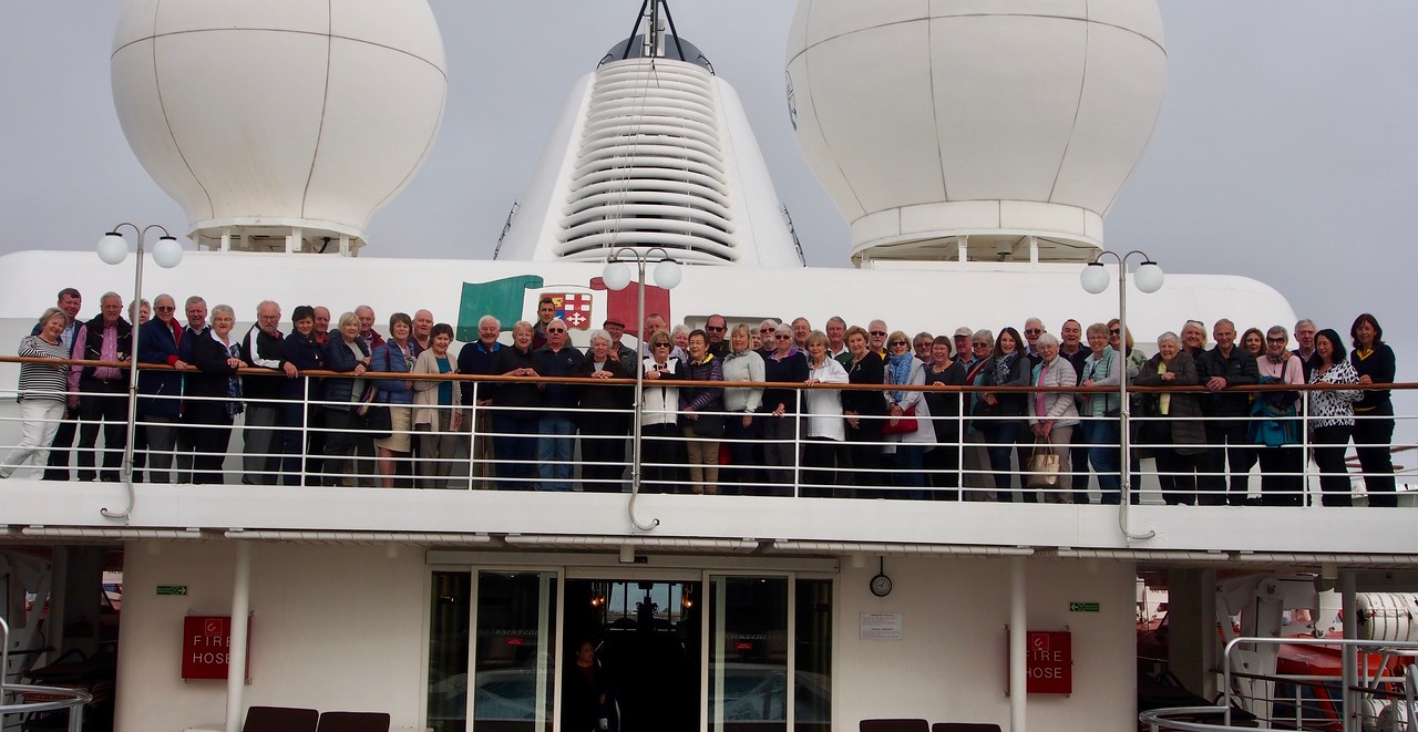 "Our ""Northern Sea Route"" group photo (a couple of people are missing in action) - taken on board Silversea ""Silver Wind"".<br /> <br /> Many thanks Denise for providing me with this photo."