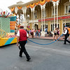 This is how they end parades at Disney. I miss the fire engines sweeping the streets that end parades in New Orleans.