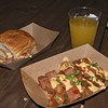 Hawaii: Kalua Pork Slider and Teriyaki-glazed SPAM Hash