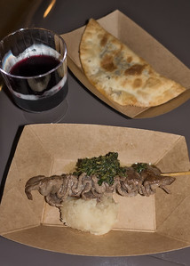 Patagonia: Beef Empanada and Grilled Beef Skewer