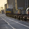 088 hauls the empty flat wagons along Alexandra Road bound for the Common User Terminal to be loaded for the 0930 IWT to Ballina. Mon 10.04.17