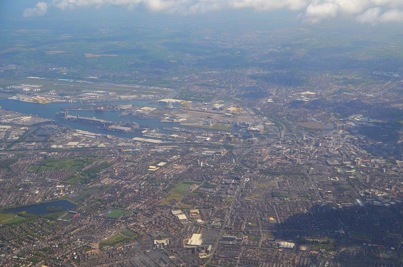 Overview of Belfast.<br /> <br /> Taken from the 1245 LGW / BFS. Tues 09.05.17