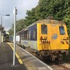 8090 at Carrickfergus with the 2017 Sandite driver training train having arrived from York Road. Tues 26.09.17<br /> <br /> (With thanks to Tyler Playfair)