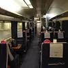 Interior of the unrefurbished GWR Night Riveria Sleeper. Fri 30.06.17
