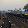 66711 passes Barnetby, 1009 Doncaster Down Decoy Gbrf to Immingham H.I.T. Weds 01.11.17