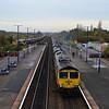66589 passes Barnetby, 1111 Scunthorpe Coal Plant / Immingham Bulk Terminal. Weds 01.11.17