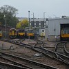 142046, 158815, 150137, 144017 & 142069 stabled at Sheffield. Sun 01.10.17