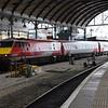 82210 arrives into Platform 2 at Newcastle, 1300 Edinburgh Waverley / London Kings Cross. Fri 01.09.17