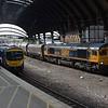 66749 crawls through York , 1130 Doncaster Down Decoy / North Blyth coal. Fri 01.09.17