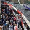Passengers alight and board at Edinburgh Waverley. Sun 03.09.17